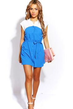 #1015store.com #fashion #style royal blue/white button front sash tie mini sundress-$15.00 Beach Sundresses, Affordable Dresses, Sash, Royal Blue, Mini Skirts, Blue And White, Tie, Button, Style