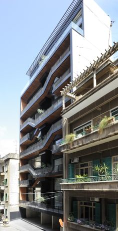 Bloque de viviendas en Beirut, Líbano de Bernard Khoury Architects .
