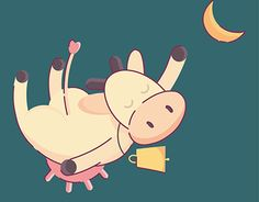 """Check out new work on my @Behance portfolio: """"Flying cow illustration"""" http://be.net/gallery/35414735/Flying-cow-illustration"""