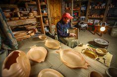 El trabajo de los artesanos en arcilla de Pañul.