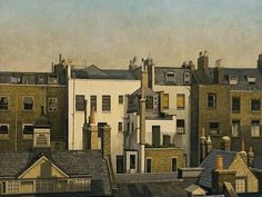 The Backs of Houses, Harley Street by Algernon Cecil Newton 1925