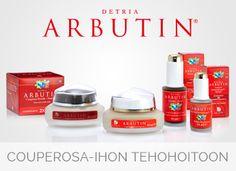 Detria Arbutin herkän ja couperosa-ihonhoitoon. #detria #arbutin #couperose #naturalskincare Organic Beauty, Beauty Products, Skin Care, Cosmetics, Skincare Routine, Skins Uk, Skincare, Asian Skincare, Products