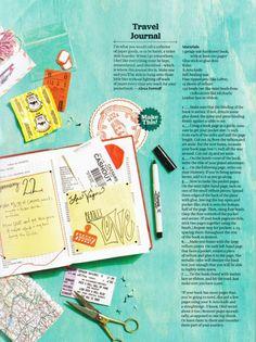 travel journal inspiration, art journal inspiration, bullet journal inspiration =D