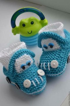 Baby Knitting Patterns Slippers Booties - buy or order in the Internet Mag . Crochet Pullover Pattern, Baby Booties Knitting Pattern, Knit Baby Shoes, Crochet Baby Boots, Knit Baby Booties, Booties Crochet, Crochet Baby Clothes, Crochet For Boys, Crochet Shoes