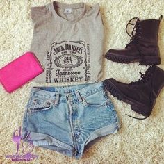 Summer outfits 2014 / hot short jeans for teens - http://AmericasMall.com/