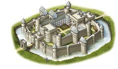Bildresultat för medieval castle layout