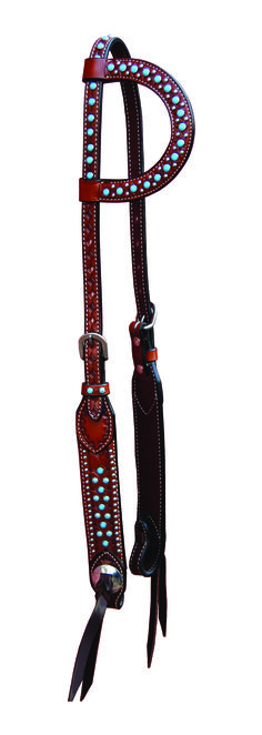 Excellent Quality ~ Affordable Prices Shop Bar H Equine Turquoise Dots Single Ear | Bar H Equine