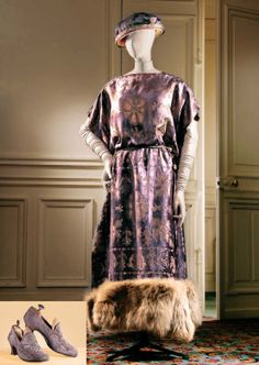 1921 outfit for Denise Poiret to wear to a wedding, made by her husband Paul Poiret.