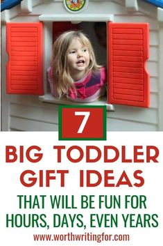 I love this list of big toys for toddlers! Great toddler gift ideas and fun toys that will provide hours, days, even years of fun for your child! This is my go-to list for toddler birthday gifts and Christmas presents. Toddler Play, Toddler Gifts, Toddler Preschool, Toddler Activities, Indoor Activities, Family Activities, Toddler Speech, Health Activities, Toddler Christmas