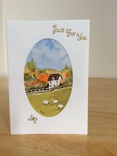 Hand painted watercolour card