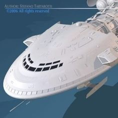 Spaceship2 3D Model-   High detailed model of a spaceship. - #3D_model #Sci-Fi Spaceship