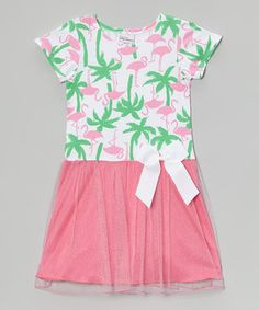 Look at this #zulilyfind! Flamingo Fun Chelsea Drop-Waist Dress - Infant, Toddler & Girls by Flap Happy #zulilyfinds