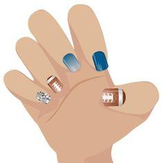 Detroit Lions (design 2) inspired nail wraps. #jamberrynails #nailart #detroitlions