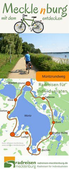 Im Herzen #Mecklenburgs liegt eine Traumlandschaft, die Mecklenburgische #Seenplatte mit über 2000 Seen. Am besten erkundet sich die Region auf ausgedehnten #Radtouren oder mit dem Boot. #Urlaub #Reise #Deutschland
