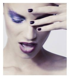 purple eyes lips and nails
