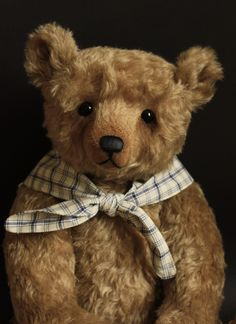 """Bartholemew a 20"""" traditional mohair teddy bear by  Victoria Allum of Humble Crumble Bears"""