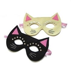 shimmer kitty (pretty little things - Lori Marie) Sewing Art, Sewing Crafts, Fancy Dress Masks, Felt Mask, Animal Masks, Cat Birthday, Felt Patterns, Cat Party, Party Props