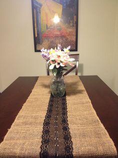 The Millennialista: Pinspiration: Burlap Lace Table Runner DIY