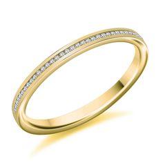 Channel Set 0.07ct Round Brilliant Cut Diamond Half Eternity Ring   Reppin & Jones Jewellers