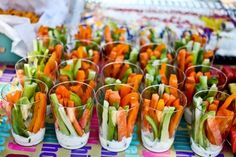 Um, this is a great idea for a party so everyone isn't crowded around a dip tray and double dipping. - Click image to find more Food & Drink Pinterest pins