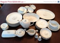 Spring Sale Kaysons Fine China Golden by MollysEclecticarium, $212.50