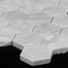 Cararra Hex tile for floor