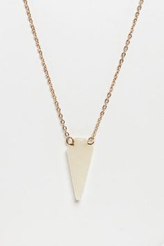Arrowhead Over Heels Ivory Pendant Necklace at LuLus.com!
