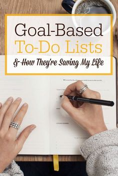 """Want to get some of the BIG goals crossed off your to-do list? I've been using a new system this year that I am calling """"goal-based…"""