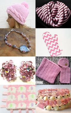 Tickled Pink!  by Marcia on Etsy--Pinned with TreasuryPin.com