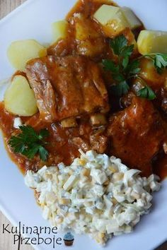 Duszone żeberka w sosie. Perfect for slow cooker. Pork Recipes, Mexican Food Recipes, Dinner Recipes, Cooking Recipes, Ethnic Recipes, Cooking Panda, Cooking Bread, Snacks Für Party, My Favorite Food