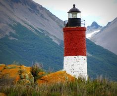 ✯ Lighthouse, located on an island near the southernmost city in the  world - Ushuaia in Southern Patagonia, Argentina