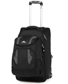 Closeout! High Sierra Adventure Access Carry On Rolling Backpack - Black