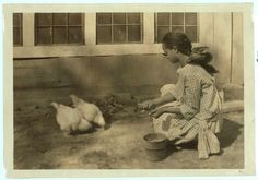 Alice Curtis and her poultry. (See Photo No. 103.) Location: Charleston [vicinity], West Virginia