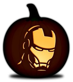 PDF downloads for carving pumpkins...lots more here besides Iron Man!  Even some girly ones like Ariel, Tinkerbell, and Pooh