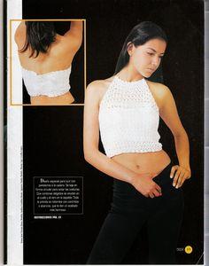 butterflycreaciones / fanaticadel tejido: revista croché 7 Bikinis Crochet, Boutique, Crop Tops, Tank Tops, Camisole Top, Album, Bra, Women, Fashion