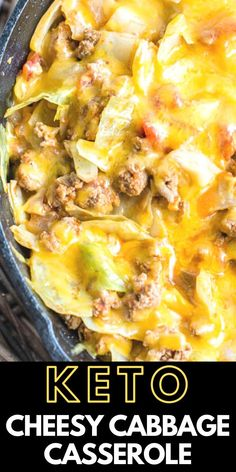 This Low Carb Cheesy Cabbage Casserole is a one pan easy dinner ready in 30 minutes! The perfect easy keto dinner! This Low Carb Cheesy Cabbage Casserole is a one pan easy dinner ready in 30 minutes! The perfect easy keto dinner! Cabbage Casserole, Keto Casserole, Casserole Recipes, Keto Recipes, Dinner Recipes, Cooking Recipes, Healthy Recipes, Bread Recipes, Holiday Recipes