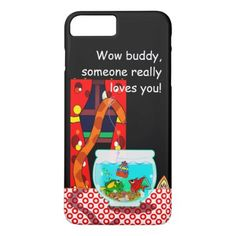 The Cat And The Fish Bowel Phone Case - birthday gifts party celebration custom gift ideas diy