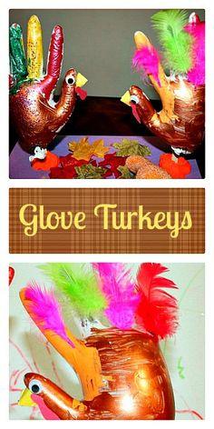 Turkey Craft using Gloves