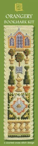 Textile Heritage Counted Cross Stitch Bookmark Kit – Orangery – Cream Background