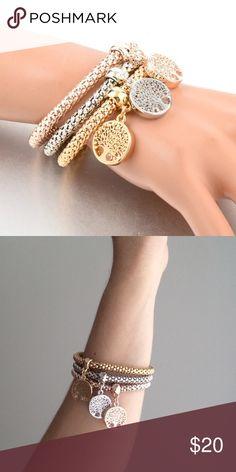 TREE OF LIFE BRACELETS SILVER, GOLD AND ROSE GOLD. BRAND NEW! Jewelry Bracelets
