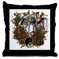 Pentacle Triple Moon Series 2 Throw Pillow