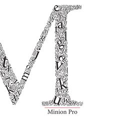 Minion Pro (by Robert Slimbach), Poster/Book by Trevor Watts.  If you click on this, you'll see it's a few images. Looks like it's part of a book. Again, I think putting the alphabet in one shape is a smart way to include all the letters, bold and strong contrast.