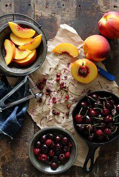 Peach & Cherry Upside-Down Cake Ingredients