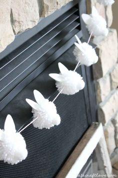 Bunny Pom Pom Garlandwomansday