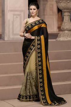# designer # sarees @ http://zohraa.com/beige-net-saree-ay-sr- ag-6014.html # celebrity # zohraa # onlineshop # womensfashion # womenswear # bollywood #look # diva # party # shopping # online # beautiful # beauty #glam # shoppingonline # styles # stylish # model # fashionista # women # lifestyle #fashion # original # products # saynotoreplicas