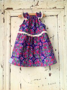 Girls Spring Dress  Children's Dress by zoegirldesigns on Etsy, $34.00