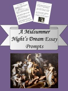 Help with a midsummer nights dream essay?