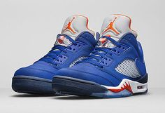 "2016 Nike Air Jordan 5 Retro Low ""Cavs"" SZ 11.5 Deep Royal Blue 819171-417"