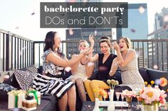 DOs and DONTs: How to throw the best bachelorette party ever - cute article ... and can we please take a glitter/confetti picture like this one?? LOVE it!