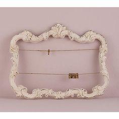 Open Ornate Vintage Inspired Frame in Antique White White